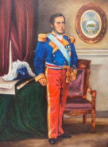 Don Juan Rafael Mora, retratado en uniforme de Capitán General por el pintor Manuel Carranza