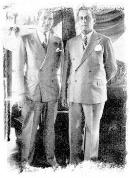 Dres. Arnulfo Arias y Rafael Angel Calderón, presidentes de Panamá y Costa Rica